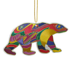 Dawn Oman Alpha Bear Metallic Ornament
