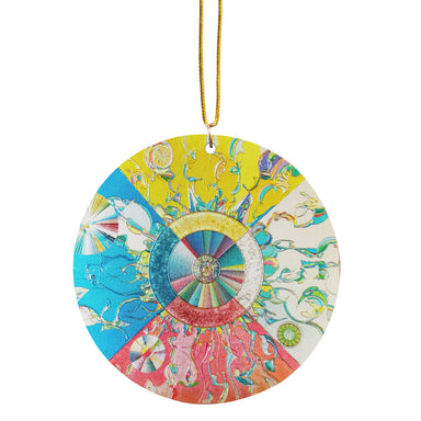Alex Janvier Morning Star Metallic Ornament - Oscardo
