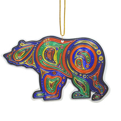 Liz Feyerabend Bear Metallic Ornament