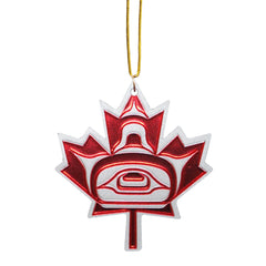 Andy Everson Maple Leaf Metallic Ornament
