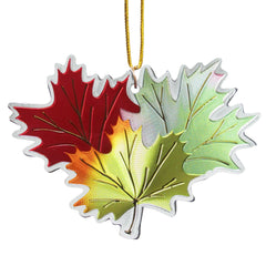 Ruth Lund Triple Leaves Metallic Ornament