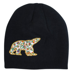 Dawn Oman Spring Bear Embroidered Knitted Hat