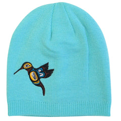 Hummingbird Embroidered Knitted Hat