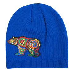 Liz Feyerabend Bear Embroidered Knitted Hat