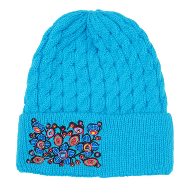 Norval Morrisseau Flowers and Birds Embroidered Knitted Hat - Oscardo