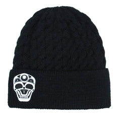 James Johnson Skull Embroidered Knitted Hat