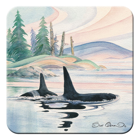 Sue Coleman Whale Hard Coaster