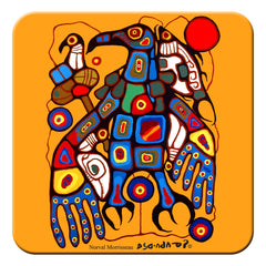 Norval Morrisseau Man Changes into Thunderbird Hard Coaster