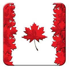 Maple Leaf Flag Hard Coaster
