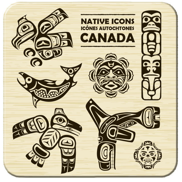 Native Icons Hard Coaster