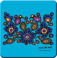 Norval Morrisseau Flowers and Birds Hard Coaster