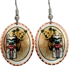 Bear Alaska Native Earrings