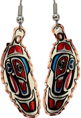 Native Feather Alaska Native Earrings