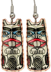Native Totem Alaska Native Earrings