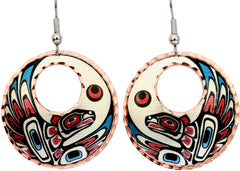 Native Eagle Alaska Native Earrings