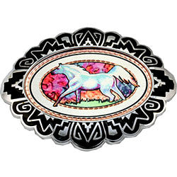Horse Colourful Belt Buckle