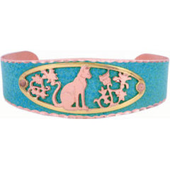 Cat Blue Patina Bracelet
