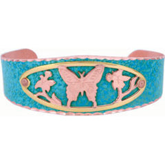 Butterfly Blue Patina Bracelet