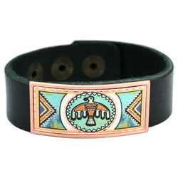 Native Eagle Colourful Leather Bracelet