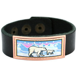 Polar Bear Colourful Leather Bracelet