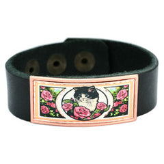 Cat Colourful Leather Bracelet