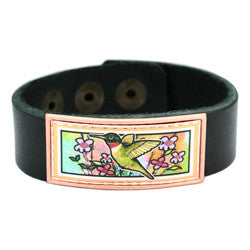 Hummingbird Colourful Leather Bracelet