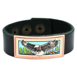 Eagle Colourful Leather Bracelet