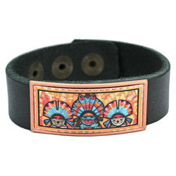 Native Indian Colourful Leather Bracelet
