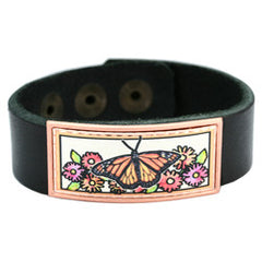 Butterfly Colourful Leather Bracelet