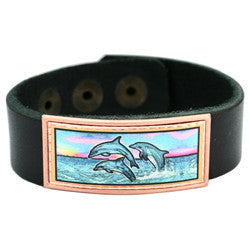 Dolphin Colourful Leather Bracelet