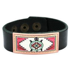 Native Turtle Colourful Leather Bracelet