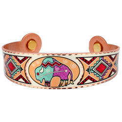 Native Muskox Colourful Magnetic Bracelet