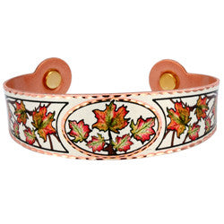 Maple Leaf Colourful Magnetic Bracelet