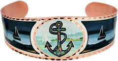 Anchor with Sailboats Marine Bracelet - Oscardo