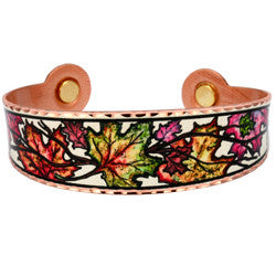 Maple Leaf Colourful Lynn Bean Magnetic Bracelet