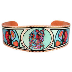Norval Morrisseau Mother & Child Artist Collection Copper Bracelet