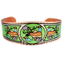 Norval Morrisseau Moose Harmony Artist Collection Copper Bracelet