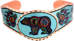 'Bear' Artist Collection Copper Bracelet - Oscardo