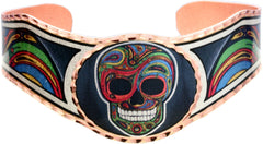 Liz Feyerabend Skull Artist Collection Copper Bracelet