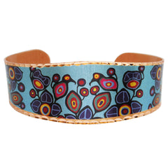 Norval Morrisseau Flowers and Birds Artist Collection Copper Bracelet