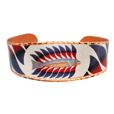 Kenojuak Ashevak Luminous Char Artist Collection Copper Bracelet - Oscardo
