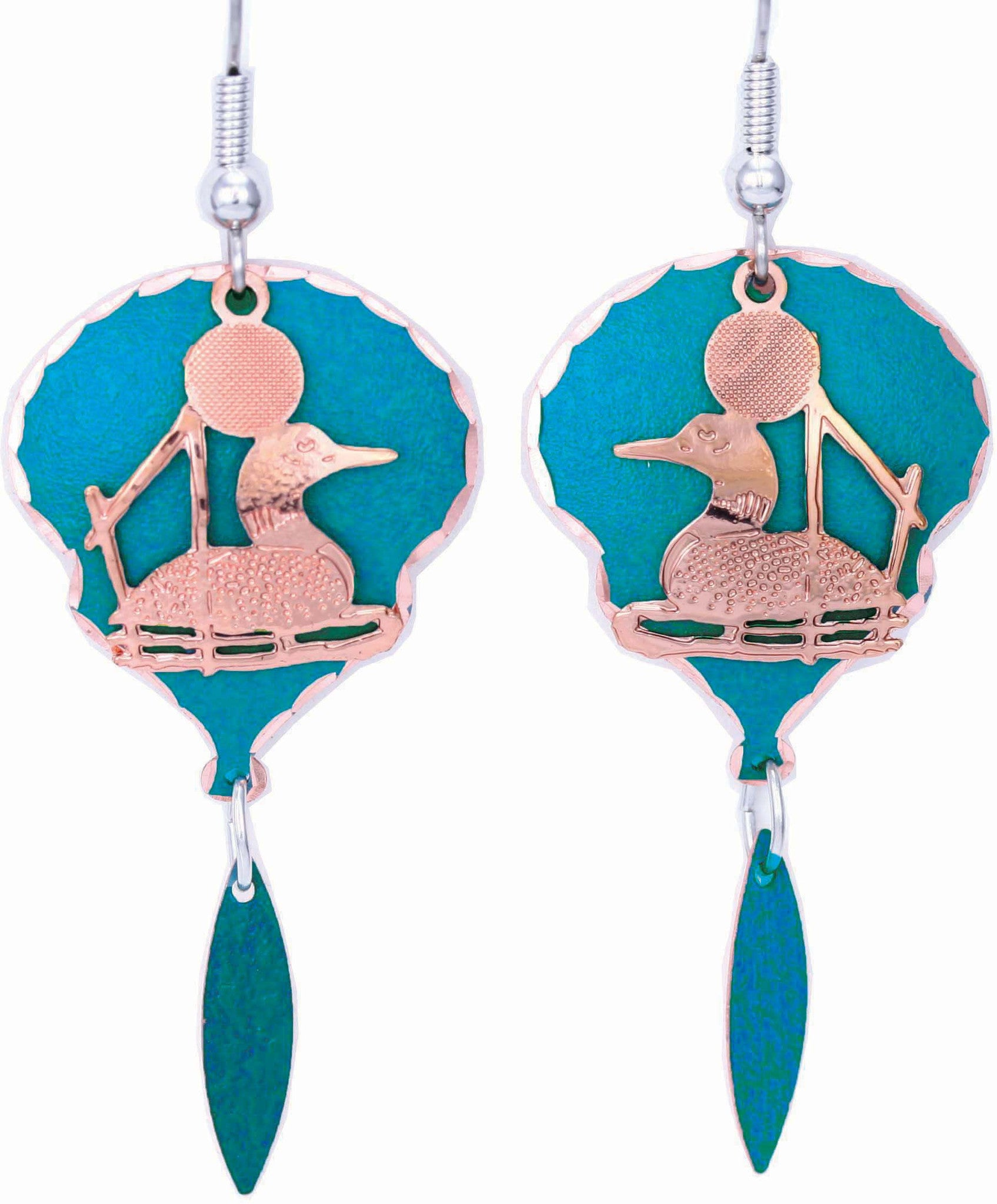 Loon Blue Patina Earrings