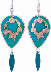 Butterfly Blue Patina Earrings
