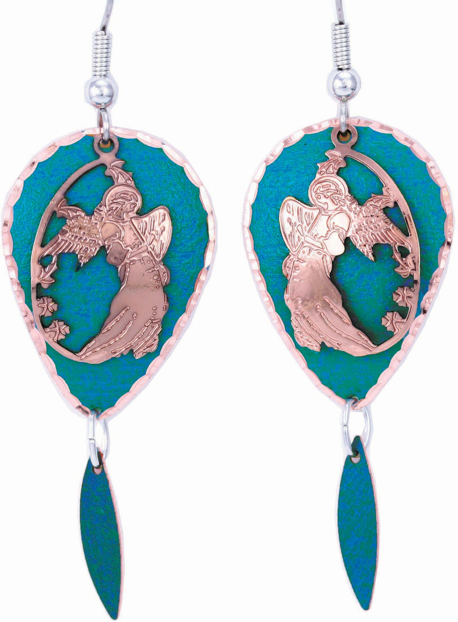 Angel Blue Patina Earrings - Oscardo