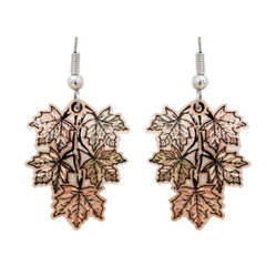 Maple Leaf Colorful Copper Earrings