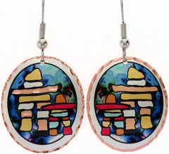Inukshuk Colourful Copper Earrings