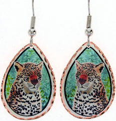 Leopard Colourful Copper Earrings