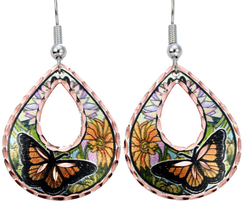 Butterfly Colourful Copper Earrings