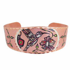 John Rombough Hummingbird Artist Collection Copper Bracelet