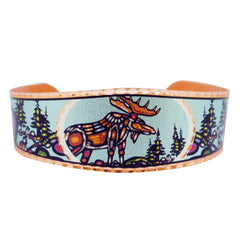 John Rombough Moose Artist Collection Copper Bracelet